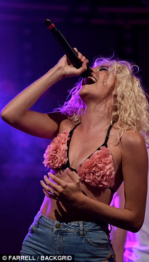 Heart and soul: She poured her heart and soul into the music as she belted out her tunes