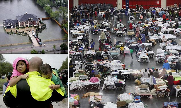 Houston convention center overflows with 9,000 survivors