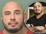 Mug shot:Chris Blinston who competed on season six of the series Ink Masters has been arrested for felony domestic battery