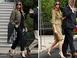 Melania Trump was defiant in her choice of wardrobe on Saturday to visit Texas, opting for the same Manolo Blanhik pump which sparked outrage earlier in the week but this time in a more elaborate snakeskin pattern