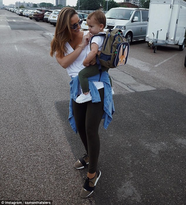 Her baby: The former TOWIE star is already mother to 18-month-old son Paul, who she welcomed with her partner of three years Paul Knightley Senior