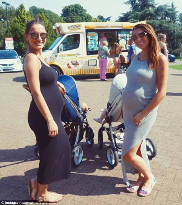 Twinning!Samantha Faiers was brimming with excitement as she showed off her growing baby bump as she enjoyed the Bank Holiday with her pregnant pal Luisa Collins