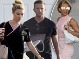 Reunited?: Ryan Lawrence, the Beverly Hills cop that Mel B is rumored to be dating was photographed with his wife, Morgan Lawrence, on Saturday (above)