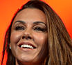 Taking centre stage: Michelle Heaton joined her Liberty X bandmates on the main stage at Manchester Pride