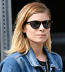 Denim darling: Kate Mara embraced an off-duty look when she ventured out in New York City