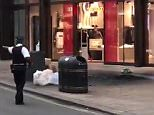 The explosion sent smoke billowing through the busy thoroughfare and people ran into shops as police cordoned off the area
