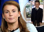 Coleen Rooney has been seen in public for the first time today since her husband's alleged 'kiss and cuddle' with another woman and subsequent drink-drive arrest