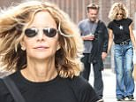 New York, NY  - *EXCLUSIVE*  - Meg Ryan and John Mellencamp were spotted together in New York City this afternoon while walking around Soho, holding hands, after grabbing lunch together. Pictured: Meg Ryan, John Mellencamp BACKGRID USA 13 SEPTEMBER 2017  USA: +1 310 798 9111 / usasales@backgrid.com UK: +44 208 344 2007 / uksales@backgrid.com *UK Clients - Pictures Containing Children Please Pixelate Face Prior To Publication*