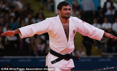Russian judo-ka Arsen Galstyan after his Gold Medal win: He will now be handed £85,000 plus a potential regional bonus from his country's Olympic committee