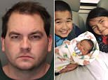 Robert Hodges, 33, was arrested for murdering his wife's three children on Thursday