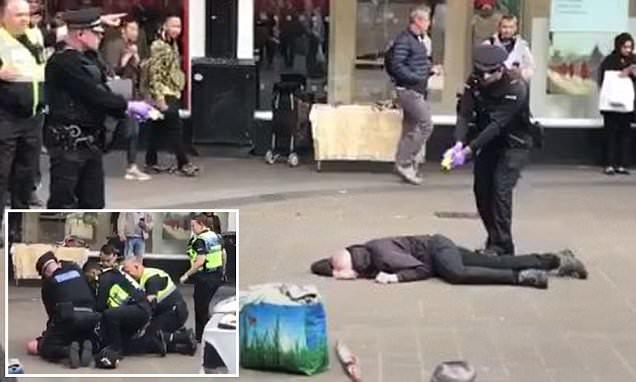 Police stop knifeman in Birmingham city centre