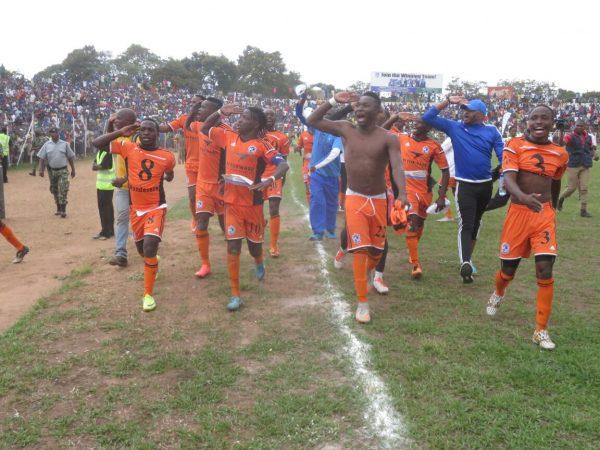 Nomads mount a victory parade, Pic Alex Mwazalumo