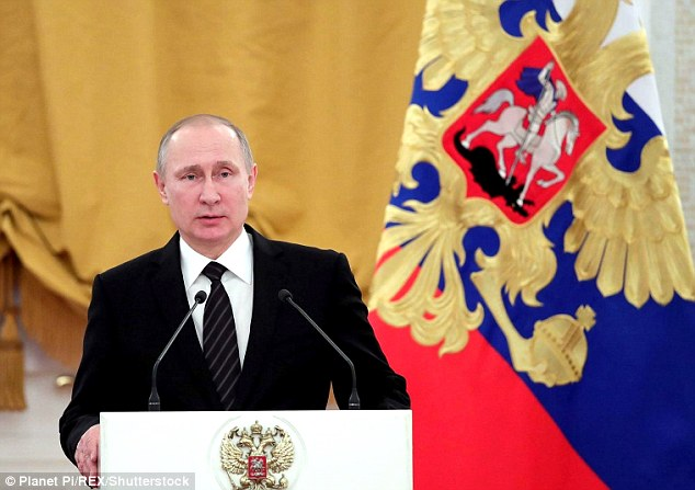 It was thought Russia will respond, but Vladimir Putin (pictured) appeared to take the high road
