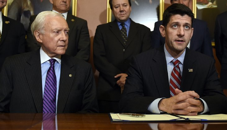 """""""I actually don't think he should do that,"""" House Speaker Paul Ryan said. (AP Photo/Susan Walsh)"""