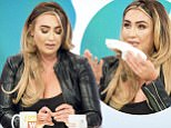 EDITORIAL USE ONLY. NO MERCHANDISING\nMandatory Credit: Photo by Ken McKay/ITV/REX/Shutterstock (9063673i)\nLauren Goodger\n'Loose Women' TV show, London, UK - 15 Sep 2017\nCeleb Guest: Lauren Goodger sets the record straight on rumours of a gastric band\nFormer TOWIE star, Lauren Goodger, joins us today to chat about her new single status, why her relationship with prison inmate, Joey Morrisson, has ended and if a reunion could ever be on the cards. Lauren will also be setting the record straight with regards to reports that shes considering undergoing a gastric band in a bid to return to her former slim-self, after piling back on the pounds.