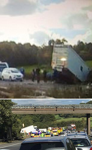 Two kids and mum injured, father killed in M5 horror crash