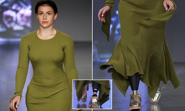 Alton Towers amputee models at London Fashion Week