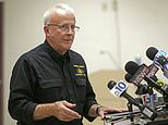 FILE - In this Aug. 6, 2013, file photo, Monroe County Coroner Bob Allen discusses charges against a man who eventually pleaded guilty to killing multiple people at a municipal meeting in the Poconos, during a news conference in Stroudsburg, Pa. Lurid claims about the Monroe County coroner's office under Allen's leadership have ignited a sex scandal in Pennsylvania's Pocono Mountains, prompting a police investigation of allegations that include sex at a death scene and stealing prescription drugs from the deceased. (AP Photo/Matt Rourke, File)