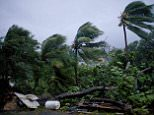 Hurricane Maria made it's first landfall on Monday on the island of Dominica in the eastern Caribbean