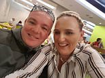 Paul Brady, 39, and his wife Loretta, 34, were kicked off an easyJet flight after they posted a selfie (pictured) captioned 'Already tipsy on the free bar'