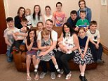 Sue and Noel Radford (pictured with their family in 2015) have welcomed their 20th baby to their huge family