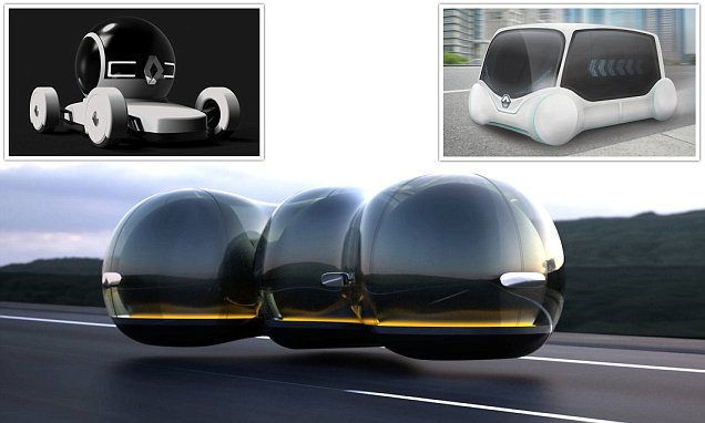 Wacky Renault cars of the future penned by art students