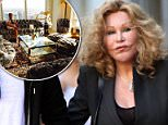 Cash-strapped Jocelyn Wildenstein has put her sprawling New York apartment back on the market after defaulting on her $4.5 million mortgage (Pictured: Fiance Lloyd Klein reclining in the lavish apartment)
