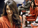 New mom and British human rights lawyer Amal Clooney attended the UN Security Council meeting on Thursday as the council voted to investigate ISIS war crimes following her campaign seeking justice for Yazidi sex slaves