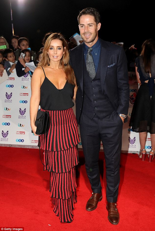 Confusion: She has recently faced rumours of strife in her 19-year marriage to footballer Jamie, yet the duo have remained defiant in the face of growing speculation that they've split