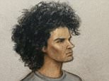 Ahmed Hassan, 18, sketched in the dock today, left a bomb made with ingredients from Amazon at Parsons Green after he 'expressed hatred for the UK', a court heard today