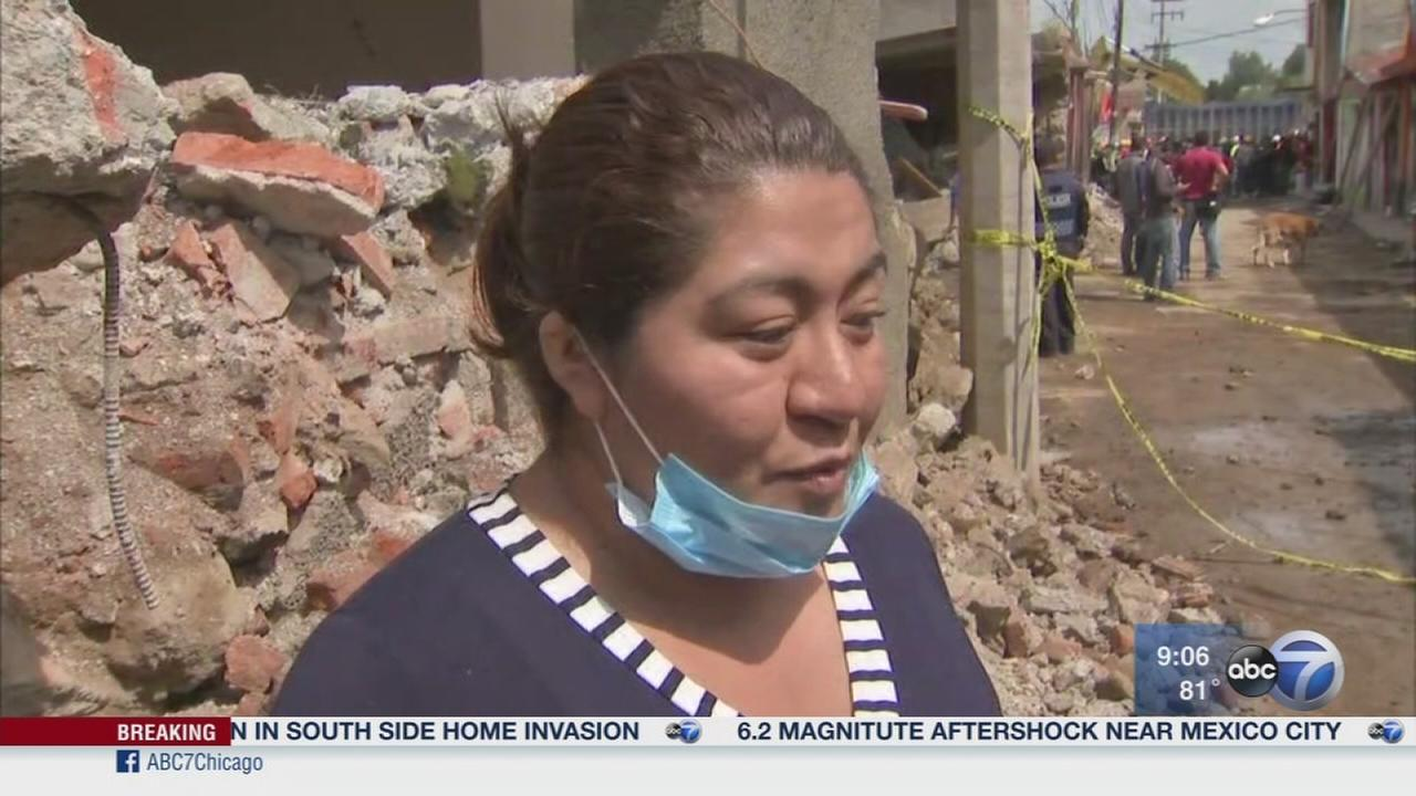 Earthquake aftershock shakes Mexico City