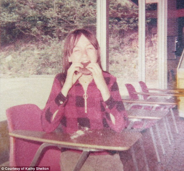 Shelton, pictured bitinginto an ice cream bar at a Baskin Robbins shortly after the attack, said it took her a long time to trust men again following the traumatizing rape