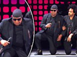"""Stevie Wonder takes a knee on the stage """"for America"""" at #GCFest http://MSNBC.com/GlobalCitizen  Bruce Maxwell"""