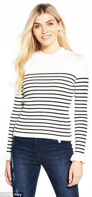 V by Very's knitted top, £22, ia also fit for royalty with pretty frilled cuffs