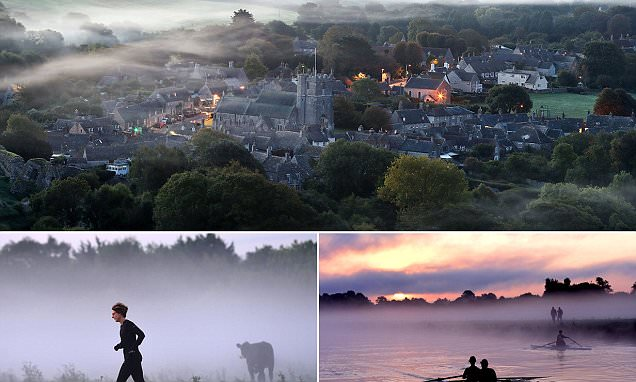 UK Weather: Morning mists seen on first day of Autumn