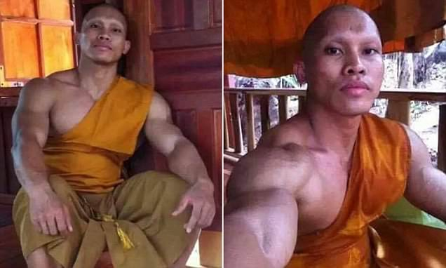 Photographs of buff Buddhist go viral in Thailand