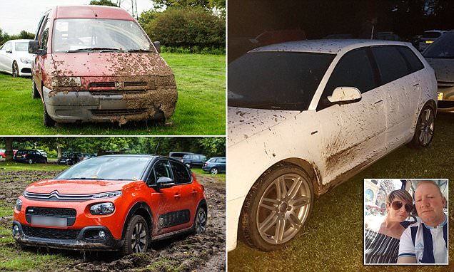 Man finds his Audi caked in mud at Manchester Airport