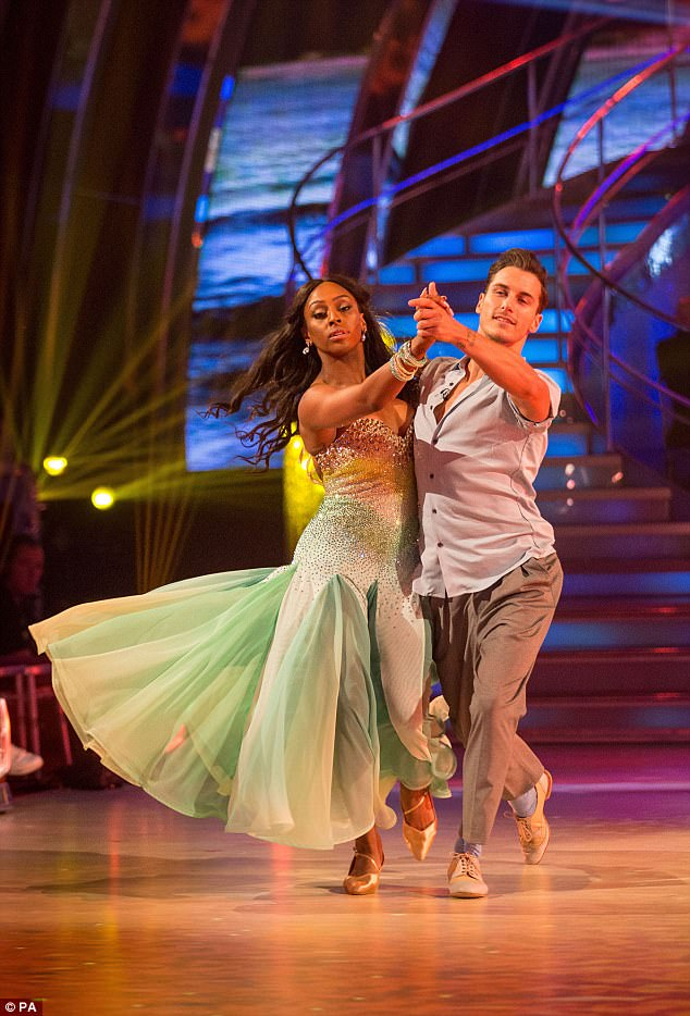 Singer and theatre star Alexandra had performed her first dance - a waltz - with professional partner Gorka Marquez in tribute to her late mother