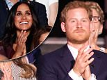 Prince Harry's girlfriend Meghan Markle attended the Invictus games opening ceremony on Saturday night in Toronto. She sat next to Markus Anderson, her 'best friend' who introduced the pair last year, while Prince Harry was 18 rows away