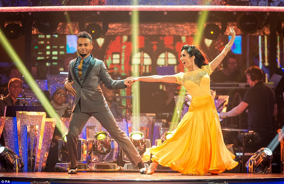 Superstar: It was Aston Merrygold who topped the leaderboard, impressing with an untraditional foxtrot to 'It Had To Be You' and was labelled 'one to watch' by the judges