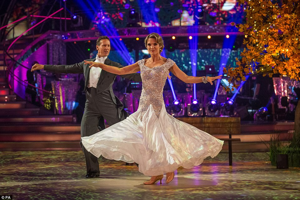 Impressive: Meanwhile Charlotte Hawkins and Brendan Cole pulled off an impressive foxtrot to The Best Is Yet To Come by Michael Buble