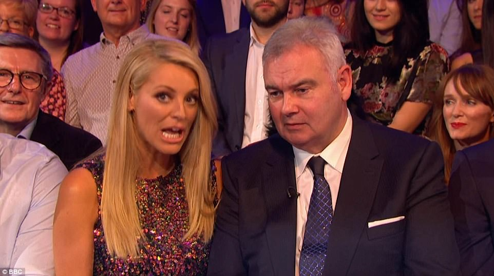 Family affair: Her husband Eamonn Holmes said he was very 'proud' of her after her performance