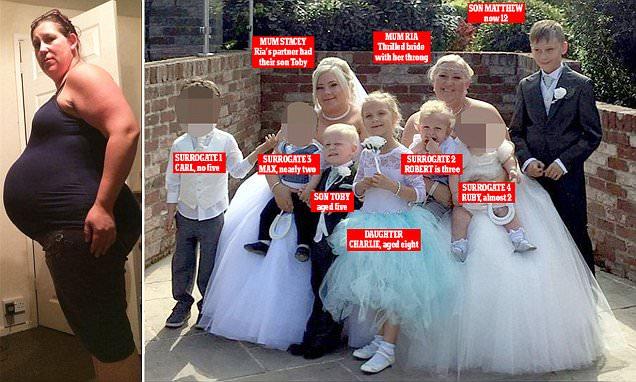 Havant mum gets married surrounded by surrogate children