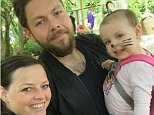Lou Alexander (pictured wit his wife Ines and two-year-old daughter) was diagnosed with cancer
