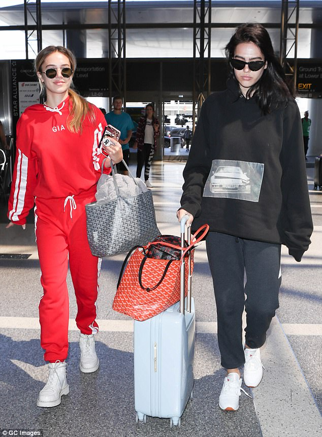 Equals! Asked by TMZ on Thursday when they would surpass the Hadid sisters, Amelia Hamlin, 16, said, 'No competition! We're the same level!'