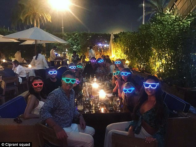 The trendsetters ofGiuseppe Cipriani Ibiza modeled a selection of Starry Eyez sunglasses in a spectrum of colours