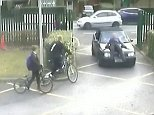 Rainier Schoeman, 22, saw the teacher and drove straight into him by the school gates in Woking