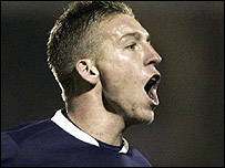 Freddy Eastwood celebrates his match-winning goal