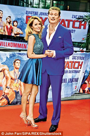 Hasselhoff his Welsh fiancée Hayley Roberts
