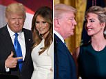 President Trump said he once 'felt up' Melania during one of his many call-ins with shock jock Howard Stern (Trump and Melania pictured together last year)